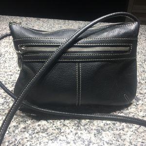 Tignanello All-Leather Black Crossbody
